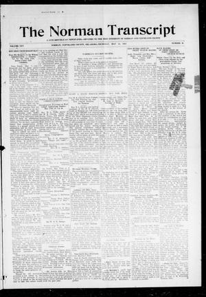 Primary view of object titled 'The Norman Transcript (Norman, Okla.), Vol. 25, No. 36, Ed. 1 Thursday, May 14, 1914'.
