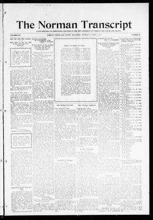 Primary view of object titled 'The Norman Transcript (Norman, Okla.), Vol. 25, No. 39, Ed. 1 Thursday, June 4, 1914'.