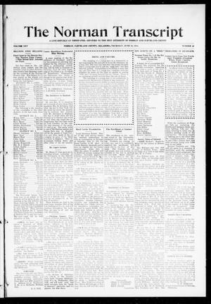 Primary view of object titled 'The Norman Transcript (Norman, Okla.), Vol. 25, No. 41, Ed. 1 Thursday, June 18, 1914'.