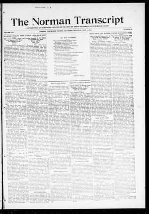 Primary view of object titled 'The Norman Transcript (Norman, Okla.), Vol. 25, No. 43, Ed. 1 Thursday, July 2, 1914'.