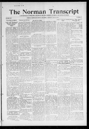 Primary view of object titled 'The Norman Transcript (Norman, Okla.), Vol. 25, No. 47, Ed. 1 Thursday, July 30, 1914'.