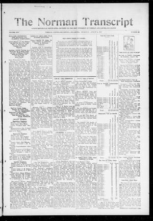 Primary view of object titled 'The Norman Transcript (Norman, Okla.), Vol. 25, No. 48, Ed. 1 Thursday, August 6, 1914'.