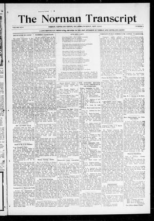 Primary view of object titled 'The Norman Transcript (Norman, Okla.), Vol. 26, No. 1, Ed. 1 Thursday, September 10, 1914'.