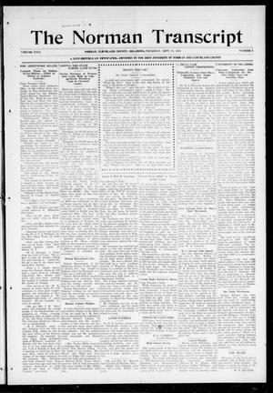 Primary view of object titled 'The Norman Transcript (Norman, Okla.), Vol. 26, No. 2, Ed. 1 Thursday, September 17, 1914'.