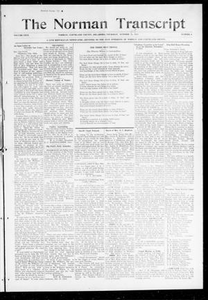 Primary view of object titled 'The Norman Transcript (Norman, Okla.), Vol. 26, No. 8, Ed. 1 Thursday, October 29, 1914'.
