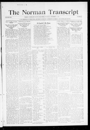 Primary view of object titled 'The Norman Transcript (Norman, Okla.), Vol. 26, No. 9, Ed. 1 Thursday, November 5, 1914'.