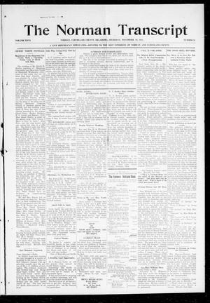 Primary view of object titled 'The Norman Transcript (Norman, Okla.), Vol. 26, No. 11, Ed. 1 Thursday, November 19, 1914'.