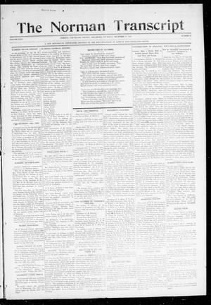 Primary view of object titled 'The Norman Transcript (Norman, Okla.), Vol. 26, No. 15, Ed. 1 Thursday, December 17, 1914'.