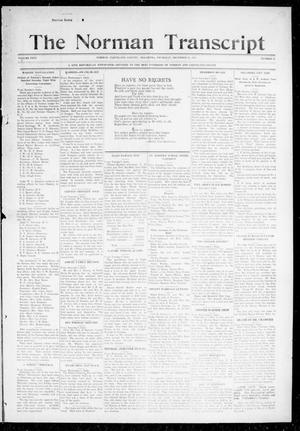 Primary view of object titled 'The Norman Transcript (Norman, Okla.), Vol. 26, No. 17, Ed. 1 Thursday, December 31, 1914'.