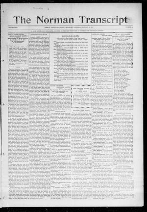 Primary view of object titled 'The Norman Transcript (Norman, Okla.), Vol. 26, No. 19, Ed. 1 Thursday, January 14, 1915'.