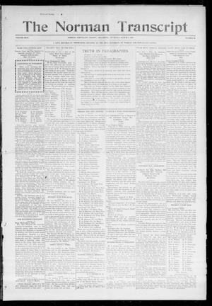 Primary view of object titled 'The Norman Transcript (Norman, Okla.), Vol. 26, No. 26, Ed. 1 Thursday, March 4, 1915'.