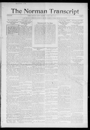 Primary view of object titled 'The Norman Transcript (Norman, Okla.), Vol. 26, No. 32, Ed. 1 Thursday, April 15, 1915'.