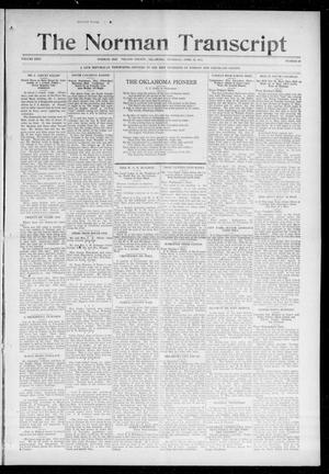 Primary view of object titled 'The Norman Transcript (Norman, Okla.), Vol. 26, No. 33, Ed. 1 Thursday, April 22, 1915'.