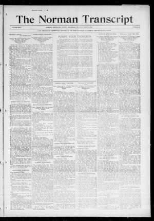 Primary view of object titled 'The Norman Transcript (Norman, Okla.), Vol. 26, No. 43, Ed. 1 Thursday, June 10, 1915'.