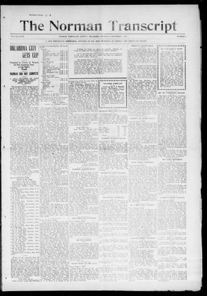 Primary view of object titled 'The Norman Transcript (Norman, Okla.), Vol. 27, No. 2, Ed. 1 Thursday, September 2, 1915'.