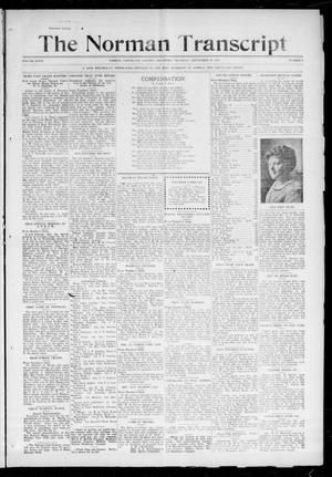 Primary view of object titled 'The Norman Transcript (Norman, Okla.), Vol. 27, No. 5, Ed. 1 Thursday, September 23, 1915'.