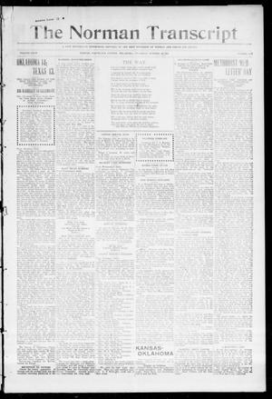 Primary view of object titled 'The Norman Transcript (Norman, Okla.), Vol. 28, No. 103, Ed. 1 Thursday, October 28, 1915'.