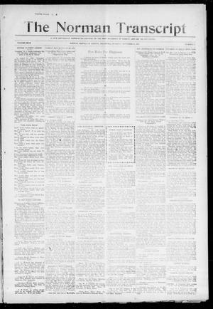 Primary view of object titled 'The Norman Transcript (Norman, Okla.), Vol. 27, No. 11, Ed. 1 Thursday, November 11, 1915'.