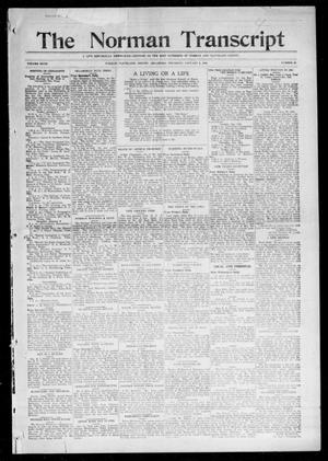 Primary view of object titled 'The Norman Transcript (Norman, Okla.), Vol. 27, No. 20, Ed. 1 Thursday, January 6, 1916'.