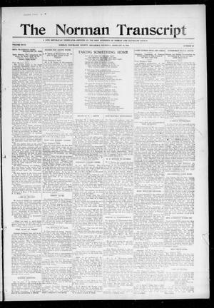 Primary view of object titled 'The Norman Transcript (Norman, Okla.), Vol. 27, No. 25, Ed. 1 Thursday, February 10, 1916'.