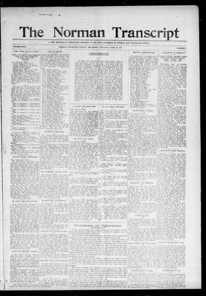 Primary view of object titled 'The Norman Transcript (Norman, Okla.), Vol. 27, No. 35, Ed. 1 Thursday, April 20, 1916'.
