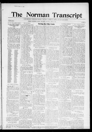 Primary view of object titled 'The Norman Transcript (Norman, Okla.), Vol. 27, No. 36, Ed. 1 Thursday, April 27, 1916'.