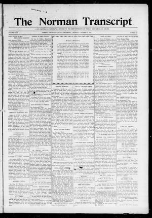 Primary view of object titled 'The Norman Transcript (Norman, Okla.), Vol. 27, No. 29, Ed. 1 Thursday, October 5, 1916'.