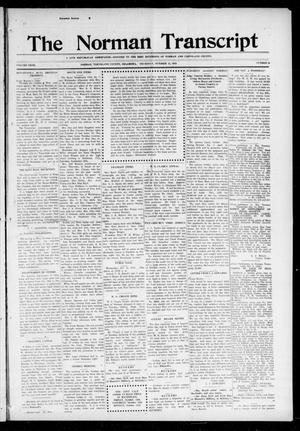Primary view of object titled 'The Norman Transcript (Norman, Okla.), Vol. 27, No. 30, Ed. 1 Thursday, October 12, 1916'.