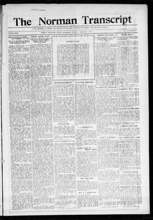 Primary view of object titled 'The Norman Transcript (Norman, Okla.), Vol. 27, No. 46, Ed. 1 Thursday, February 1, 1917'.