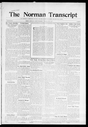 Primary view of The Norman Transcript (Norman, Okla.), Vol. 28, No. 7, Ed. 1 Thursday, May 3, 1917