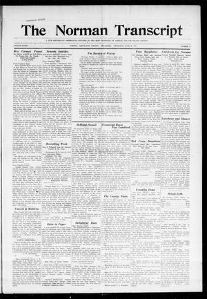 Primary view of object titled 'The Norman Transcript (Norman, Okla.), Vol. 28, No. 15, Ed. 1 Thursday, June 28, 1917'.