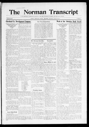 Primary view of object titled 'The Norman Transcript (Norman, Okla.), Vol. 28, No. 22, Ed. 1 Thursday, August 16, 1917'.