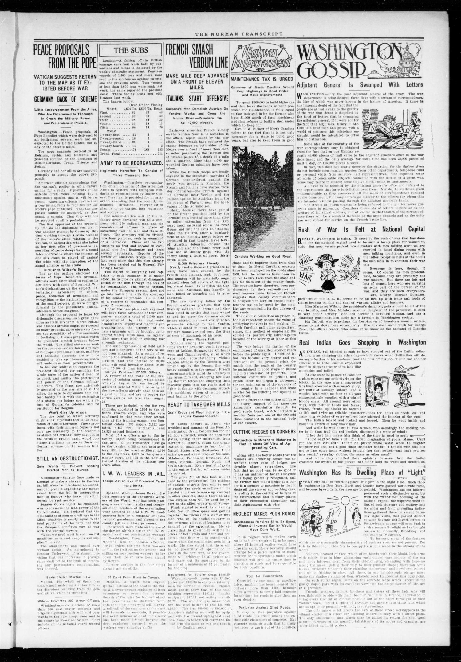 The Norman Transcript (Norman, Okla.), Vol. 28, No. 23, Ed. 1 Thursday, August 23, 1917                                                                                                      [Sequence #]: 3 of 10