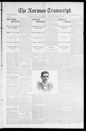 Primary view of object titled 'The Norman Transcript. (Norman, Okla. Terr.), Vol. 08, No. 04, Ed. 1 Friday, October 23, 1896'.