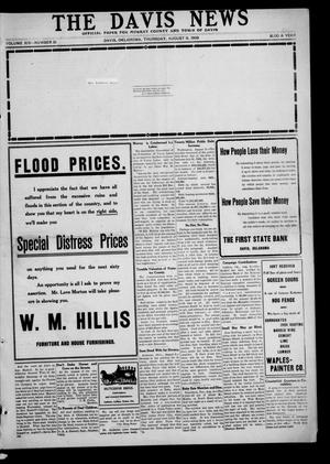 Primary view of object titled 'The Davis News (Davis, Okla.), Vol. 14, No. 51, Ed. 1 Thursday, August 6, 1908'.