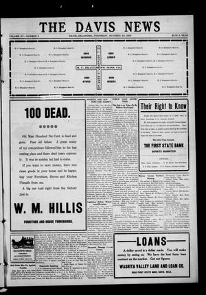 Primary view of object titled 'The Davis News (Davis, Okla.), Vol. 15, No. 11, Ed. 1 Thursday, October 29, 1908'.