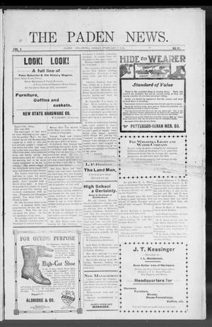 Primary view of object titled 'The Paden News. (Paden, Okla.), Vol. 1, No. 19, Ed. 1 Friday, February 5, 1909'.