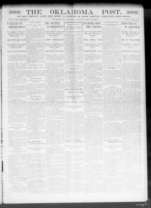 Primary view of object titled 'The Oklahoma Post. (Oklahoma City, Okla.), Vol. 5, No. 81, Ed. 1 Thursday, August 30, 1906'.