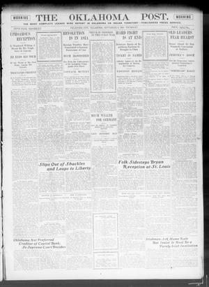 Primary view of object titled 'The Oklahoma Post. (Oklahoma City, Okla.), Vol. 5, No. 88, Ed. 1 Thursday, September 6, 1906'.