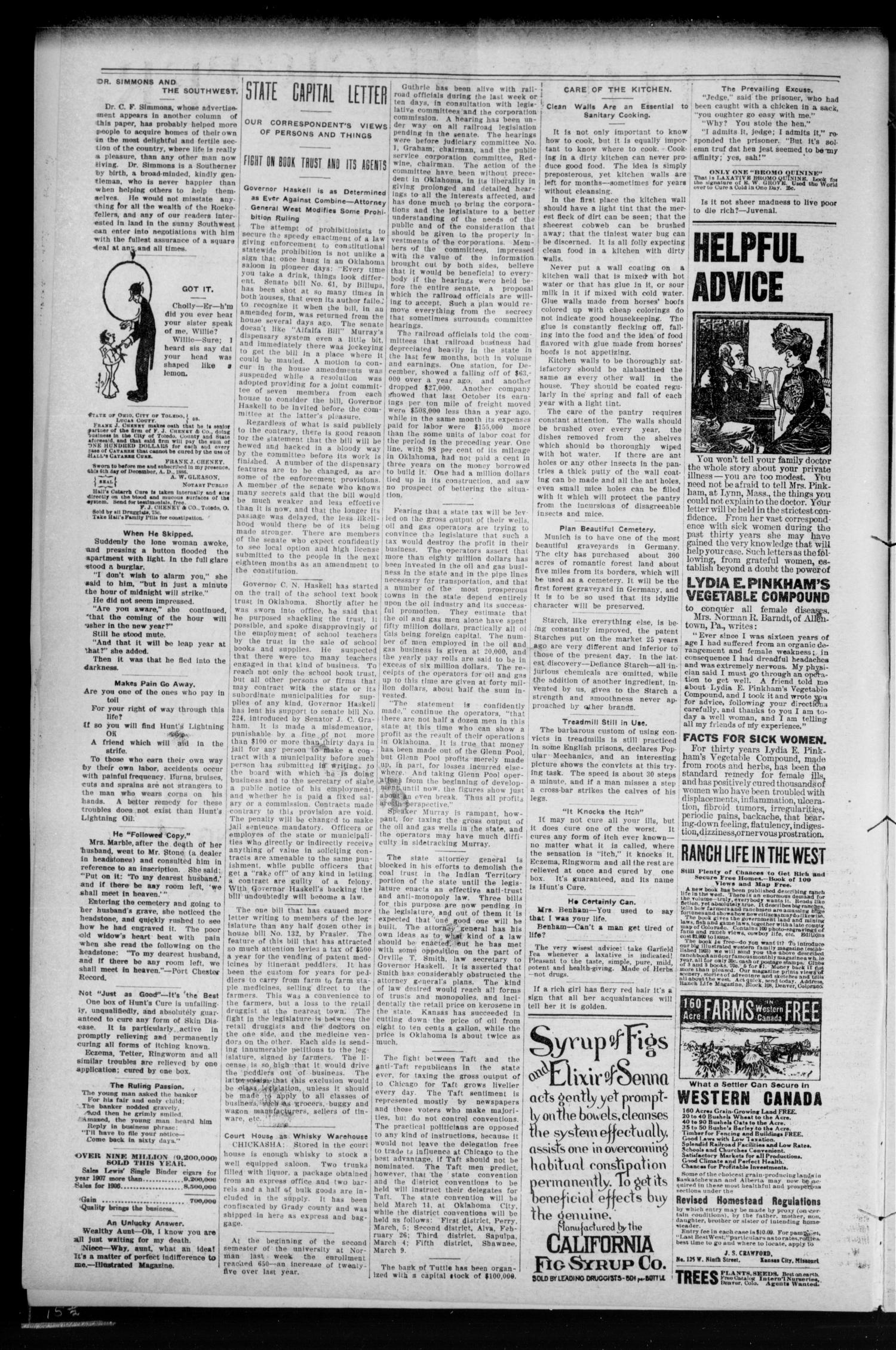 Luther Register. (Luther, Okla.), Vol. 9, No. 29, Ed. 1 Friday, February 14, 1908                                                                                                      [Sequence #]: 2 of 8