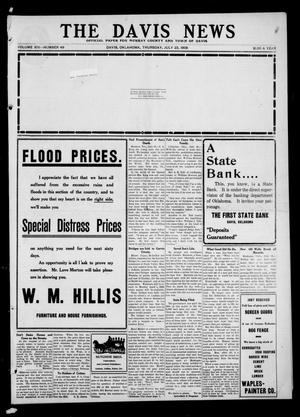 Primary view of object titled 'The Davis News (Davis, Okla.), Vol. 14, No. 49, Ed. 1 Thursday, July 23, 1908'.