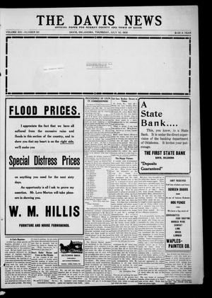 Primary view of object titled 'The Davis News (Davis, Okla.), Vol. 14, No. 50, Ed. 1 Thursday, July 30, 1908'.