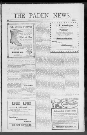 Primary view of object titled 'The Paden News. (Paden, Okla.), Vol. 1, No. 18, Ed. 1 Friday, January 29, 1909'.