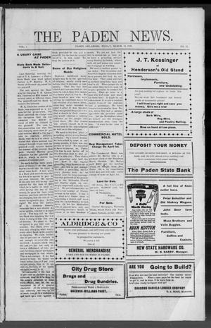 Primary view of object titled 'The Paden News. (Paden, Okla.), Vol. 1, No. 25, Ed. 1 Friday, March 19, 1909'.