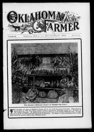Primary view of object titled 'Oklahoma Farmer (Guthrie, Okla.), Vol. 22, No. 14, Ed. 1 Friday, November 15, 1912'.