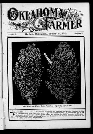 Primary view of object titled 'Oklahoma Farmer (Guthrie, Okla.), Vol. 22, No. 18, Ed. 1 Wednesday, January 15, 1913'.