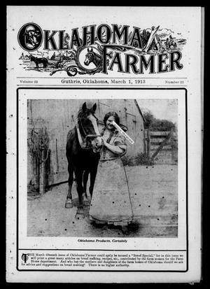Primary view of Oklahoma Farmer (Guthrie, Okla.), Vol. 22, No. 21, Ed. 1 Saturday, March 1, 1913