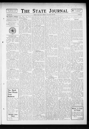 Primary view of object titled 'The State Journal (Mulhall, Okla.), Vol. 11, No. 17, Ed. 1 Friday, March 28, 1913'.