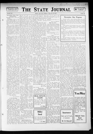 Primary view of object titled 'The State Journal (Mulhall, Okla.), Vol. 11, No. 26, Ed. 1 Friday, May 30, 1913'.