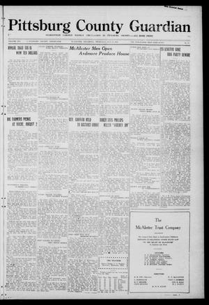 Primary view of object titled 'Pittsburg County Guardian (McAlester, Okla.), Vol. 16, No. 48, Ed. 1 Thursday, July 21, 1921'.